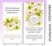 vintage delicate invitation... | Shutterstock . vector #455496085