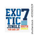 exotic jungle  t shirt graphics ... | Shutterstock .eps vector #455505529