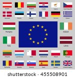 flags of the european union.... | Shutterstock .eps vector #455508901