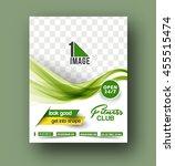 flyer  poster   magazine design ... | Shutterstock .eps vector #455515474