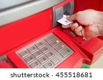 Small photo of ATM machines are plugged accumulated cash .