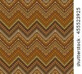 vector african style chevron... | Shutterstock .eps vector #455523925