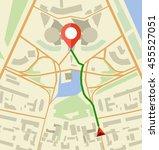 navigation map flat vector... | Shutterstock .eps vector #455527051