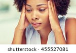 people  emotions  stress and... | Shutterstock . vector #455527081