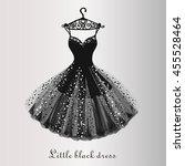 chiffon little black dress hand ...   Shutterstock .eps vector #455528464