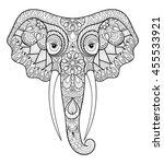 zentangle stylized ethnic... | Shutterstock .eps vector #455533921
