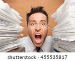 emotional stress. | Shutterstock . vector #455535817