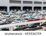 blur of car at public car... | Shutterstock . vector #455536759