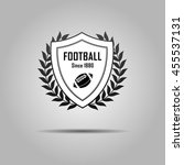 football and sport shield... | Shutterstock .eps vector #455537131