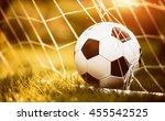 soccer ball in goal | Shutterstock . vector #455542525