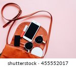 fashion concept   flat lay of... | Shutterstock . vector #455552017