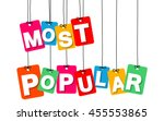 vector colorful hanging... | Shutterstock .eps vector #455553865
