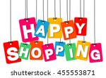 vector colorful hanging... | Shutterstock .eps vector #455553871