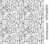 alphabet letters graphic... | Shutterstock .eps vector #455560891