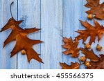 Gifts Of Autumn On Wooden...