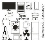 home appliances | Shutterstock .eps vector #455568997