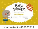 baby shower girl and boy... | Shutterstock . vector #455569711
