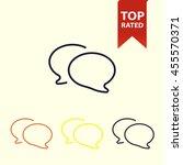 chat bubble line icon