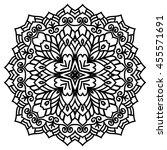 mandala for painting. vector... | Shutterstock .eps vector #455571691
