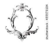 vintage baroque ornament. retro ... | Shutterstock .eps vector #455573104