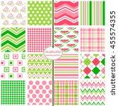 watermelon patterns. watermelon ... | Shutterstock .eps vector #455574355