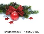 christmas decorative ball over... | Shutterstock . vector #455579407