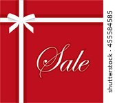 sale banner illustration on red ... | Shutterstock . vector #455584585
