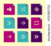 vector flat icons set   arrows