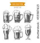 vector set of  hand drawn beer...   Shutterstock .eps vector #455587615