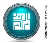 circuit board icon. internet... | Shutterstock . vector #455593651