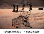 Shopping Trolley Reflection In...