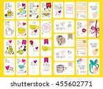 set of coffee discount cards.... | Shutterstock .eps vector #455602771