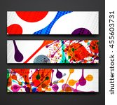 set of modern design banner... | Shutterstock .eps vector #455603731