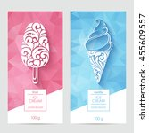 vector set of templates... | Shutterstock .eps vector #455609557