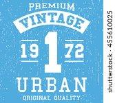 t shirt print design. vintage... | Shutterstock .eps vector #455610025