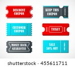 coupon sale  offers and... | Shutterstock .eps vector #455611711