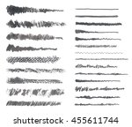 hand drawn ink brush strokes.... | Shutterstock .eps vector #455611744