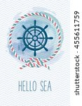 Sea Card With Steering Wheel ...