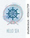 Sea Card With Steering Wheel ...