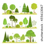 set of flat forest and park... | Shutterstock .eps vector #455613067