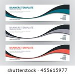 abstract banner design... | Shutterstock .eps vector #455615977