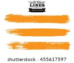 set of grunge lines. isolated... | Shutterstock .eps vector #455617597
