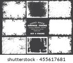 set of grunge frame   abstract... | Shutterstock .eps vector #455617681
