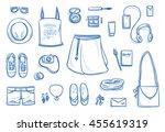 set of personal belongings ... | Shutterstock .eps vector #455619319