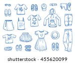 set of young fashion objects.... | Shutterstock .eps vector #455620099