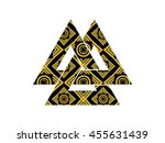 valknut is a symbol of the...   Shutterstock .eps vector #455631439