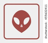 alien head icon. | Shutterstock . vector #455632411