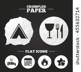 crumpled paper speech bubble....   Shutterstock . vector #455632714