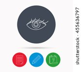 eye icon. human vision sign.... | Shutterstock . vector #455636797