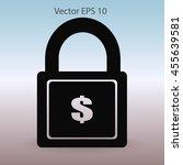 safety lock vector illustration | Shutterstock .eps vector #455639581